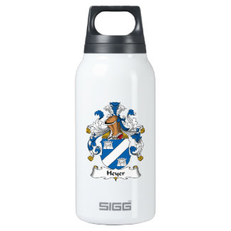 Heyer Family Crest 10 Oz Insulated SIGG Thermos Water Bottle