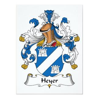Heyer Family Crest 6.5x8.75 Paper Invitation Card