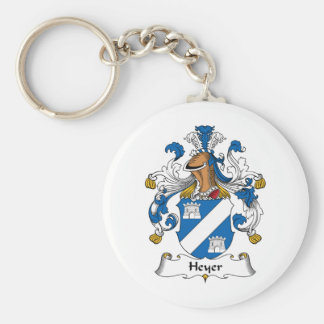 Heyer Family Crest Basic Round Button Keychain