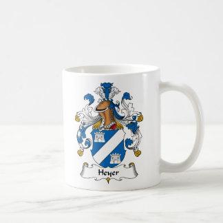 Heyer Family Crest Classic White Coffee Mug