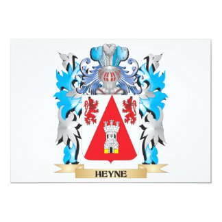 Heyne Coat of Arms - Family Crest 5x7 Paper Invitation Card