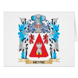 Heyne Coat of Arms - Family Crest Large Greeting Card