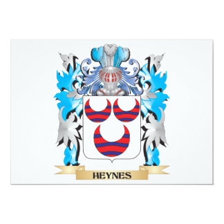 Heynes Coat of Arms - Family Crest 5x7 Paper Invitation Card