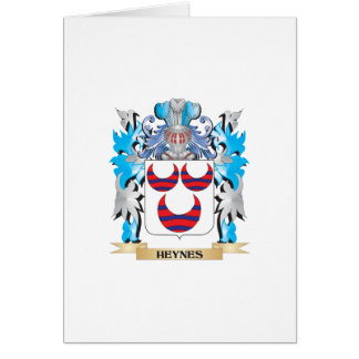 Heynes Coat of Arms - Family Crest Greeting Card