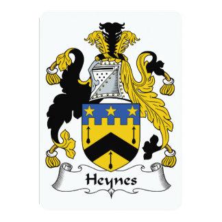Heynes Family Crest 5x7 Paper Invitation Card
