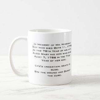 Hezekiah Day Epitaph Mug