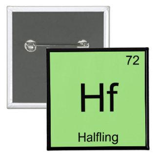Hf - Camiseta divertida del símbolo del elemento Pin Cuadrado