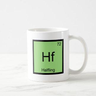 Hf - Camiseta divertida del símbolo del elemento Taza Clásica