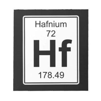 Hf - Hafnium Notepad