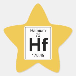 Hf - Hafnium Star Sticker