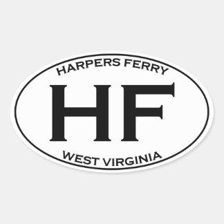 HF - Harpers Ferry West Virginia Oval Sticker