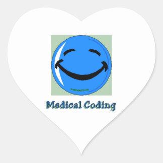 HF Hospital Medical Coding Heart Sticker