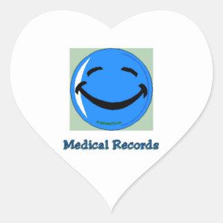 HF Hospital Medical Records Heart Sticker