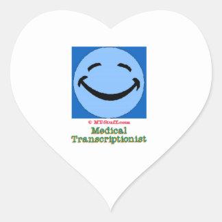 HF Medical Transcriptionist Heart Sticker