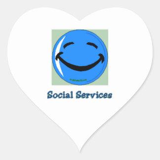 HF Social Services Heart Sticker