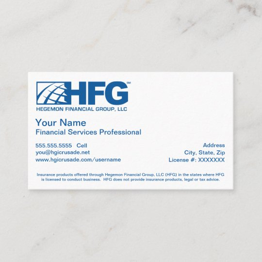 Hfg financial services professional business card zazzle hfg financial services professional business card colourmoves