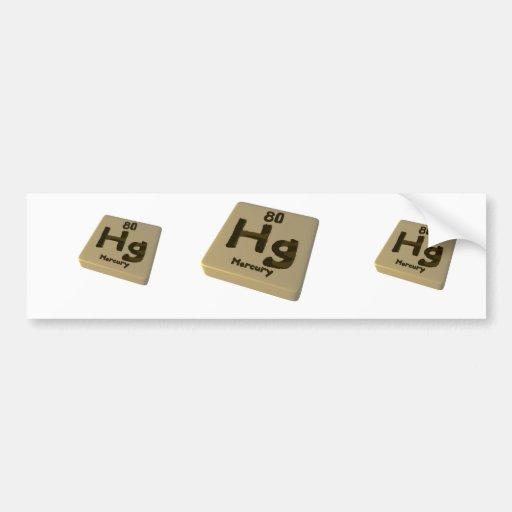 Hg Mercury Bumper Sticker
