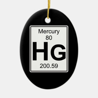 Hg - Mercury Ceramic Ornament