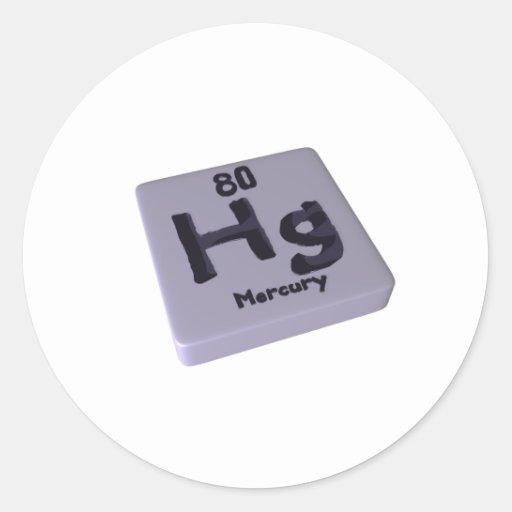 Hg Mercury Classic Round Sticker