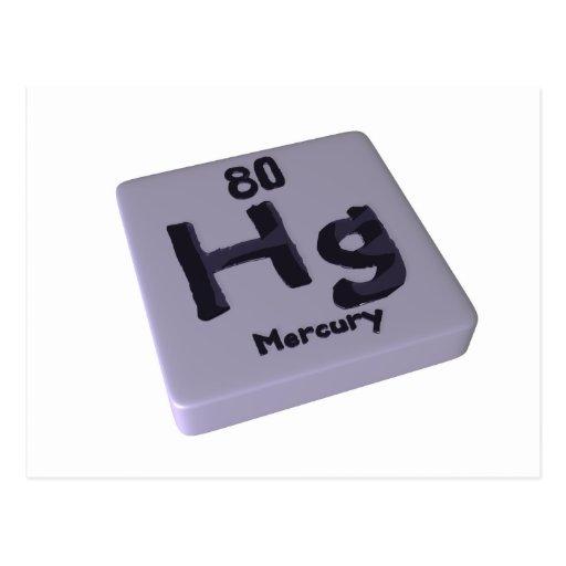 Hg Mercury Post Cards