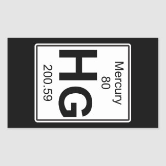Hg - Mercury Rectangular Sticker