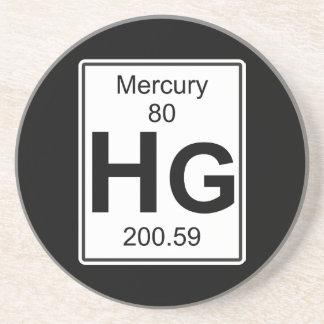Hg - Mercury Sandstone Coaster