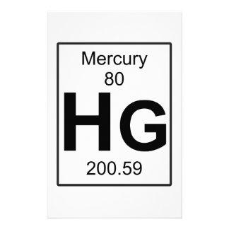Hg - Mercury Stationery