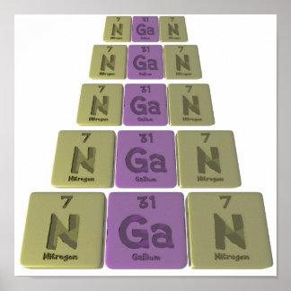 Hgan como nitrógeno del galio del nitrógeno poster