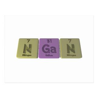 Hgan como nitrógeno del galio del nitrógeno tarjetas postales