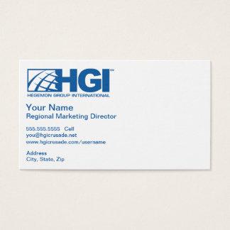 HGI Regional Marketing Director Business Card