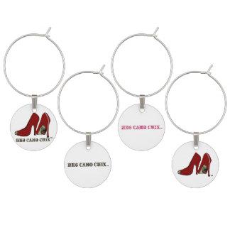 HH6 Camo Chix™ Set of Four Wine Charms