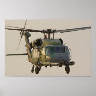HH-60G pavimentan el poster del helicóptero del ha