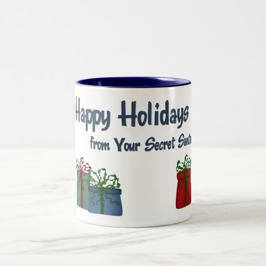 Hh From Your Secret Santa Packages Holiday Mug Zazzle Com