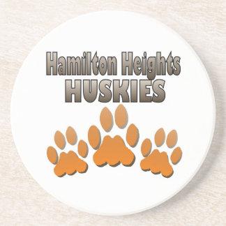 HH Huskie Paws Sandstone Coaster