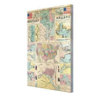 HH Lloyd Campaign Military Charts Canvas Print