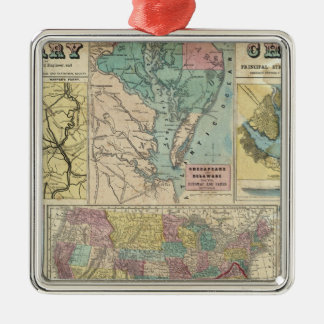 HH Lloyd Campaign Military Charts Square Metal Christmas Ornament
