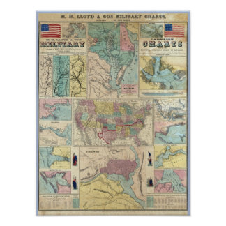 HH Lloyd Campaign Military Charts Poster