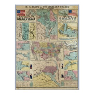 HH Lloyd Campaign Military Charts Posters