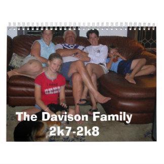 hhh 063, la familia 2k7-2k8 de Davison Calendario De Pared
