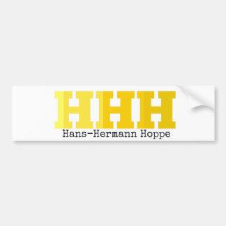 HHH   Hans-Hermann Hoppe Bumper Sticker