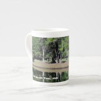 "HHI ""On Island Time"" coffee mug (plantation scene)"
