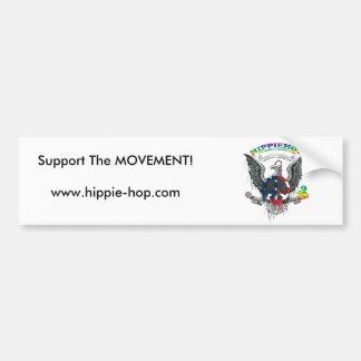 hhlogobig, Support The MOVEMENT!www.hippie-hop.com Bumper Sticker