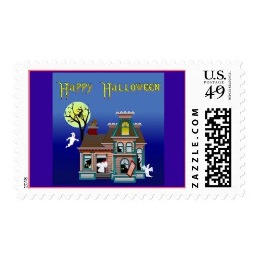 HHSpookyHouse-Stamp2 Postage