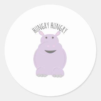 Hhungry Hippo Classic Round Sticker