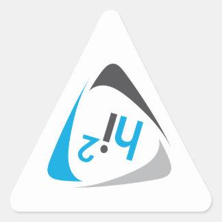 hi2 Logo Triangle Sticker