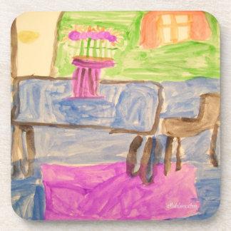HI54ART™ Watercolor Printemps Beverage Coaster