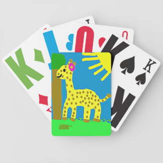 HI54ECO Safari Friends Giselle Giraffe Girl Bicycle Playing Cards