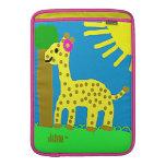 HI54ECO Safari Friends Giselle Giraffe Girl Sleeve For MacBook Air