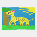 HI54ECO Safari Friends Giselle Giraffe Girl Kitchen Towels