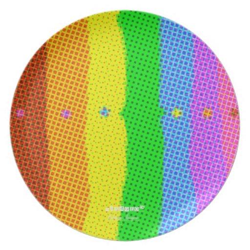"HI54GEO™ ""Doric Plaid"" Plate"